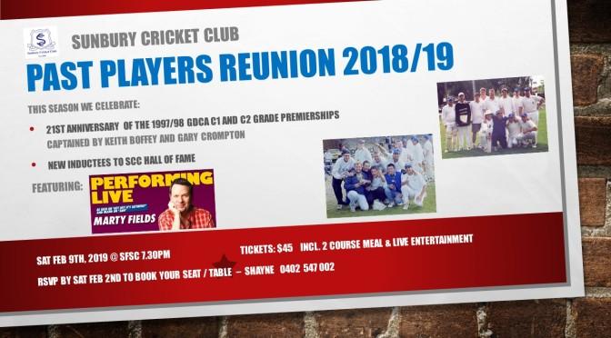 SCC Past Players Reunion 2018/19